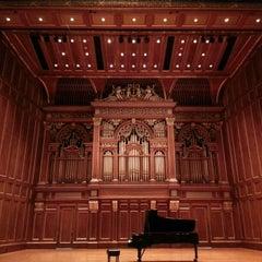 Photo taken at New England Conservatory's Jordan Hall by Joe D. on 1/31/2013