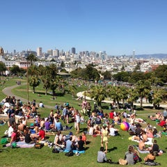 Photo taken at Mission Dolores Park by Josh K. on 5/19/2013
