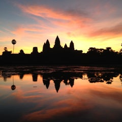 Photo taken at Angkor Wat Temple (អង្គរវត្ត) by Peter S. on 11/9/2012