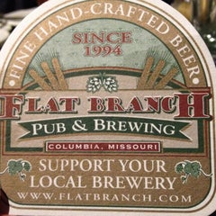 Photo taken at Flat Branch Pub & Brewing by Kim on 5/4/2013