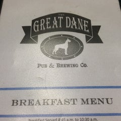Photo taken at Great Dane Pub & Brewing Co by Christopher K. on 5/8/2013