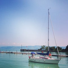 Photo taken at Romanshorn Hafen by Fritztram on 7/14/2013