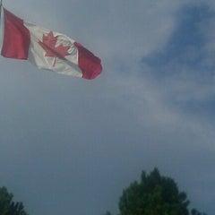 Photo taken at U.S./Canada border - Champlain-St. Bernard de Lacolle Crossing by Jannette G. on 10/5/2012