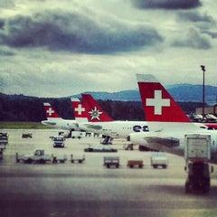 Photo taken at Zürich Airport (ZRH) by UMDAlumniAssociation on 6/19/2013