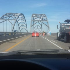 Photo taken at Luther Draffen Bridge by Amy on 2/28/2014