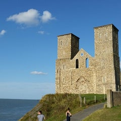 Photo taken at Reculver Towers and Roman Fort by Vincent Z. on 8/3/2014