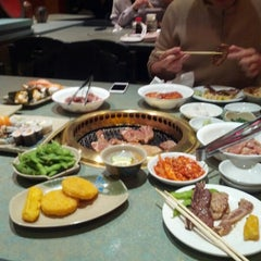 Photo taken at Shabusen Yakiniku House by Clara T. on 12/20/2012