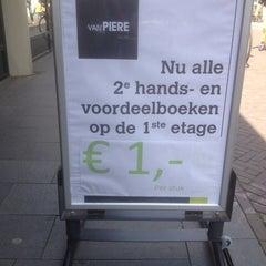 Photo taken at Boekhandel Van Piere by Johan P. on 7/1/2014