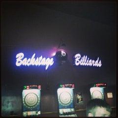 Photo taken at Backstage Billards by Heat H. on 2/28/2013
