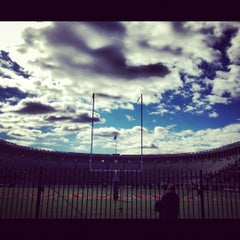 Photo taken at Harvard Stadium by Viviana V. on 11/3/2012