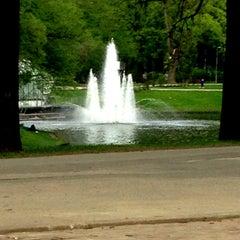 Photo taken at Kronvalda parks by Oksana K. on 5/14/2013
