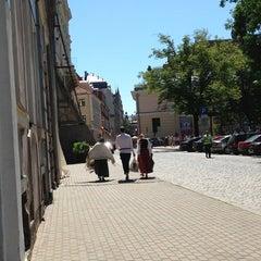Photo taken at Jēkaba laukums (Jekaba square) by Oksana K. on 7/7/2013