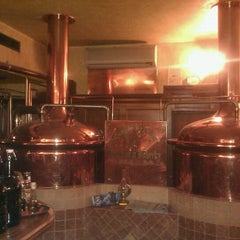 Photo taken at Pivovar u Bulovky (Richter Brewery) by Ondra Z. on 1/15/2013