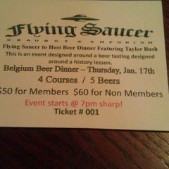 Photo taken at Flying Saucer Draught Emporium by Greg F. on 1/8/2013