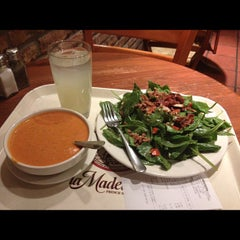 Photo taken at la Madeleine Country French Café by Randy H. on 12/10/2012