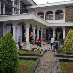 Photo taken at Masjid Agung Purwakarta by Jonni H. on 11/1/2013