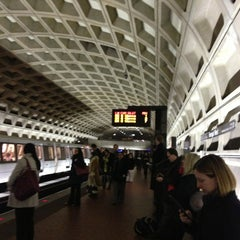 Photo taken at Farragut West Metro Station by Stephen W. on 1/2/2013