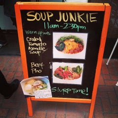 Photo taken at Soup Junkie by Jeff Y. on 3/20/2013