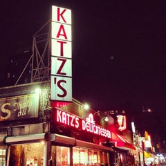 Photo taken at Katz's Delicatessen by Kris K. on 6/25/2013