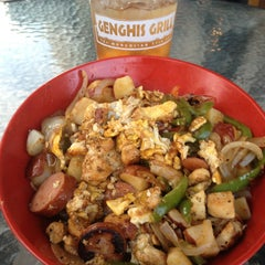 Photo taken at Genghis Grill by Justin B. on 5/8/2013