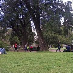 Photo taken at Parque Rivadavia by Gabriela Q. on 9/30/2012