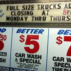 Photo taken at Original Two Dollar Car Wash by Charles P. on 11/10/2012