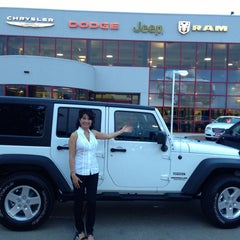 Photo taken at Nyle Maxwell Chrysler Dodge Jeep Ram Supercenter by Olivia Carolyn S. on 5/24/2013