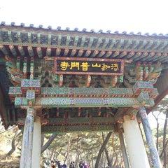 Photo taken at 보문사 (普門寺) by Choi G. on 3/1/2013