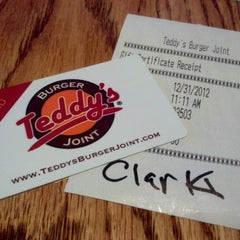 Photo taken at Teddy's Burger Joint by Bob C. on 12/31/2012