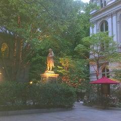 Photo taken at Benjamin Franklin Statue by Natalia S. on 5/24/2014