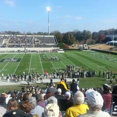 Photo taken at Gibbs Stadium by Alan C. on 11/16/2013