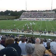Photo taken at Gibbs Stadium by Alan C. on 9/14/2013