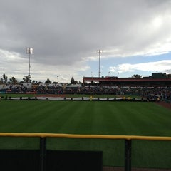 Photo taken at Scottsdale Stadium by Sunshine on 3/8/2013