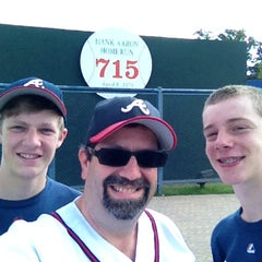Photo taken at Hank Aaron 715 Home Run Marker by Billy T. on 6/4/2014