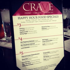 Photo taken at CRAVE Restaurant West End by TheSocial360 .. on 2/23/2013