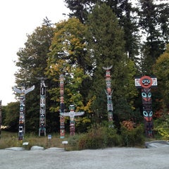 Photo taken at Totem Poles in Stanley Park by Kem on 10/7/2012