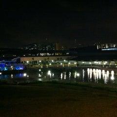 Photo taken at Bridge @ Punggol Walk by Rick on 5/8/2012