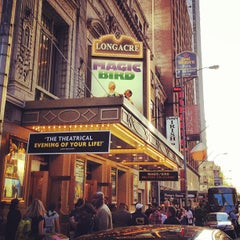 Photo taken at Longacre Theatre by Jenn B. on 4/17/2012