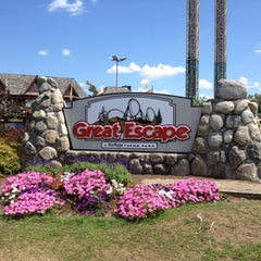 Photo taken at The Great Escape & Splashwater Kingdom by Don P. on 7/21/2012