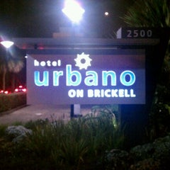 Photo taken at Hotel Urbano at Brickell by Rich T. on 11/18/2011