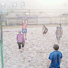 Photo taken at Legends Volleyball Court by Jen N. on 5/24/2012