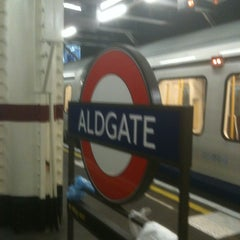 Photo taken at Aldgate London Underground Station by Julian S. on 5/8/2012