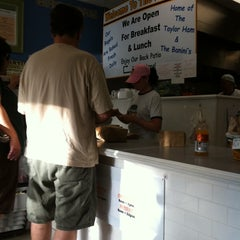 Photo taken at Bagel Wit A Schmear by Karen on 8/20/2011