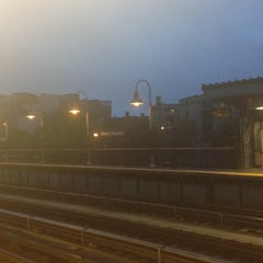 Photo taken at MTA Subway - Marcy Ave (J/M/Z) by Jessica (. on 9/4/2012