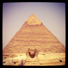 Photo taken at Great Sphinx of Giza | تمثال أبو الهول by Rizky Prambudi Tanrian on 8/6/2012
