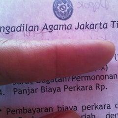 Photo taken at Pengadilan Agama Jakarta Timur by Love &. on 5/1/2012