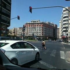 Photo taken at Plaça d'Espanya by David C. on 7/11/2012