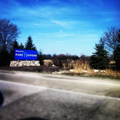 Photo taken at Michigan / Ohio State Line by Jessica B. on 3/14/2012