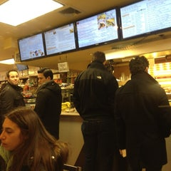 Photo taken at NY Bagels & Cafe by Maureen G. on 1/27/2013