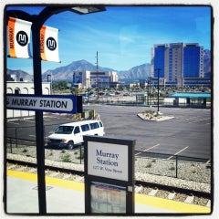 Photo taken at UTA FrontRunner Murray Station by Monica F. on 9/29/2013